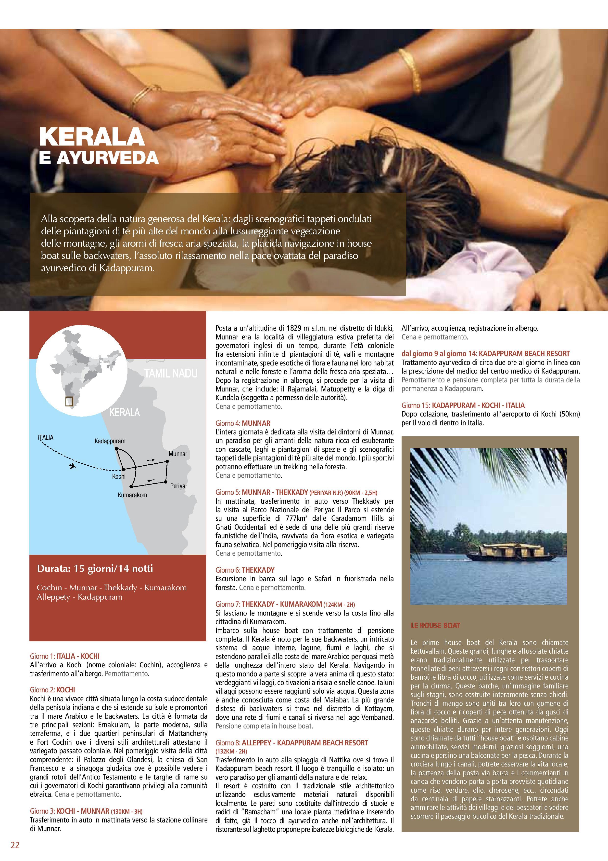 Kerala e Ayurveda Tour programma
