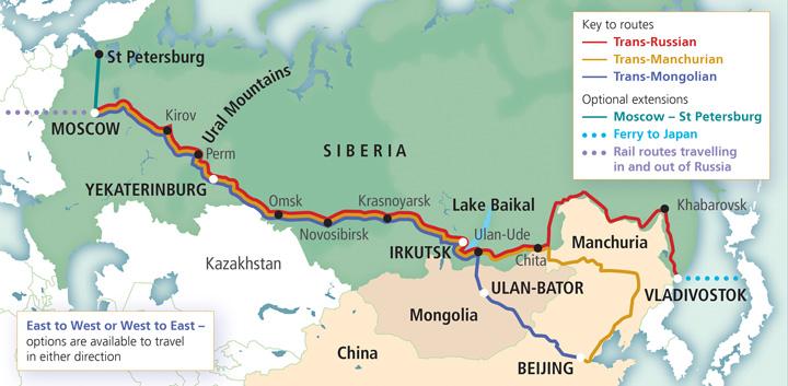 itinerari Transiberiana